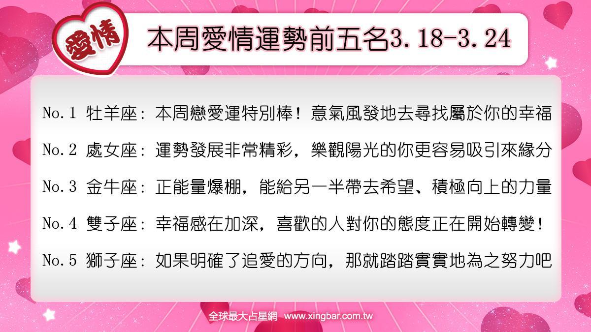 12星座本周愛情吉日吉時(3.18-3.24)