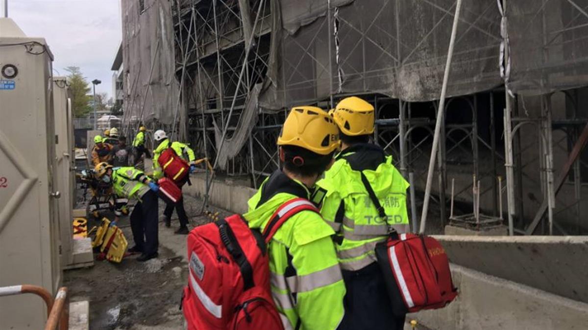 台中驚傳工安意外!灌漿工程倒塌4人送醫