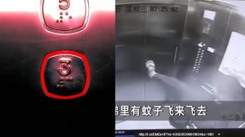 男抬腿殺蚊 下秒電梯彈出崩壞…下場超慘