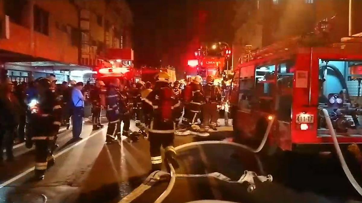 台南公寓暗夜火警 11人送醫