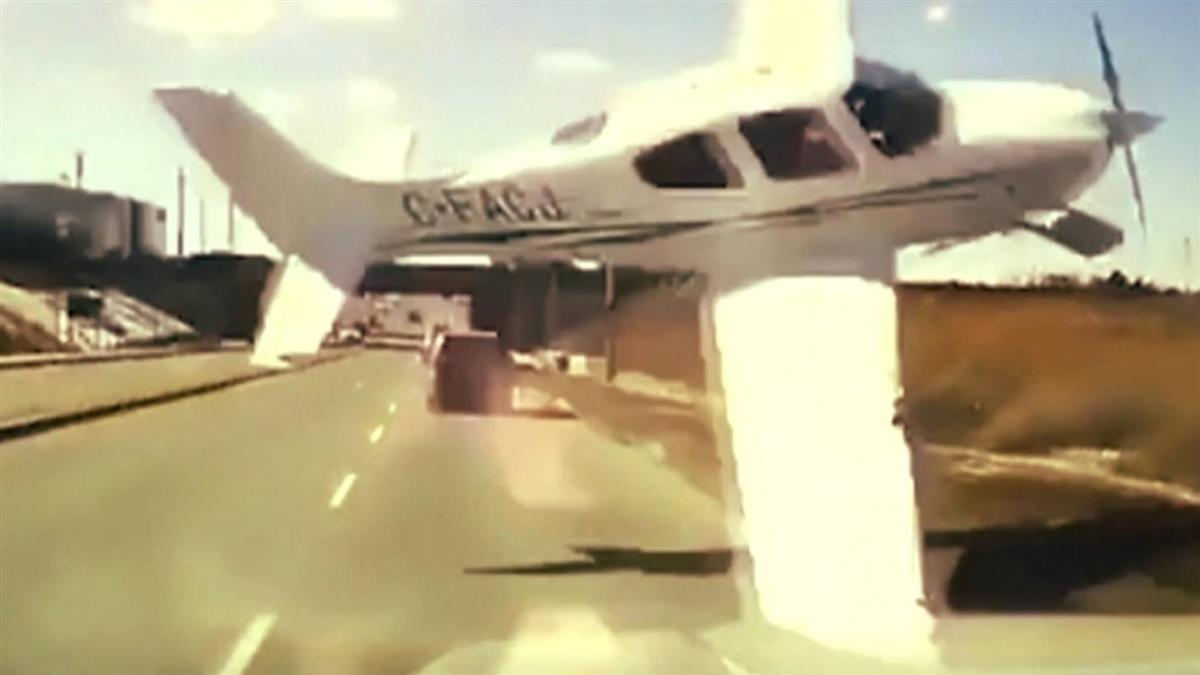 加拿大小飛機險撞卡車 駕駛驚險逃過一劫...