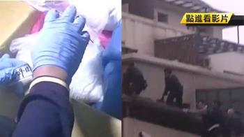 警爬陽台破窗攻堅 毒犯急跳3樓摔斷腿