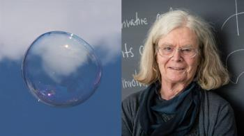 首位女性阿貝爾數學獎!研究肥皂泡先驅