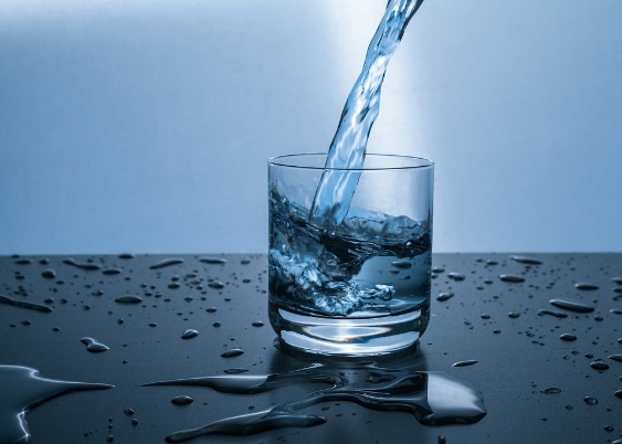 Water, Glass, Drip, Drink, Clear, Blue, Reflection