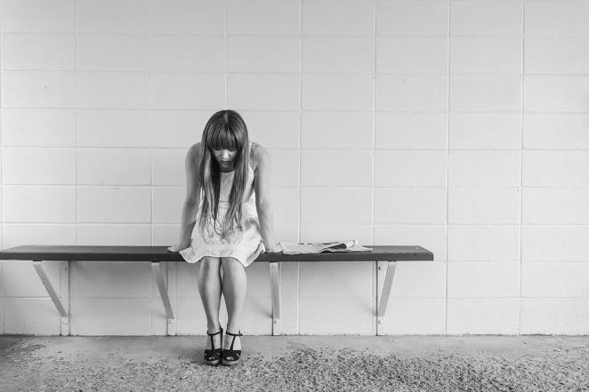 Worried Girl, Woman, Waiting, Sitting, Thinking, Worry