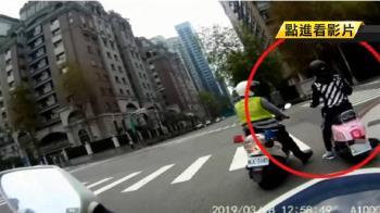 紅燈右轉遭盤查 通緝犯逃竄遭警過肩摔就逮