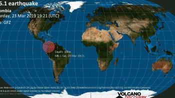 哥倫比亞西南部規模6.1強震  未傳重大災情