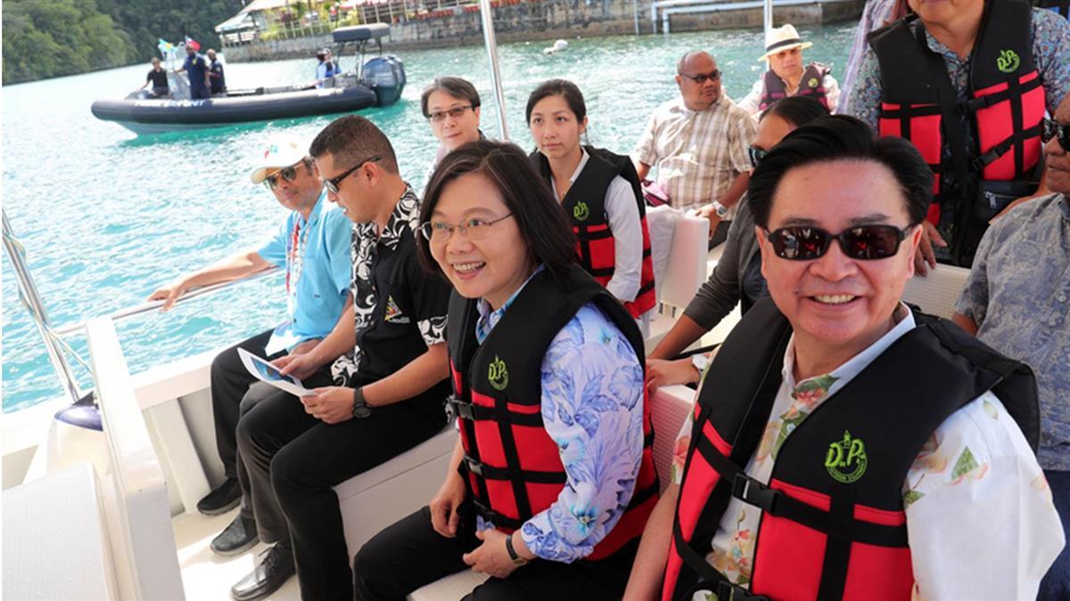 史上首次出訪時報告  蔡總統分享帛琉訪問心得