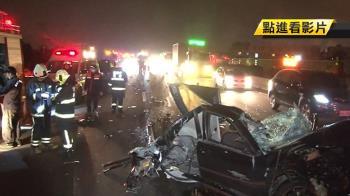 國道8車連環撞1死4傷 駕駛噴飛對向慘死