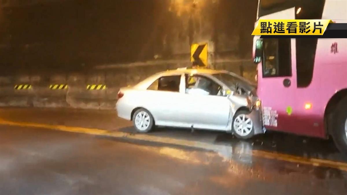 阿里山隧道逆向撞遊覽車 5人受傷送醫
