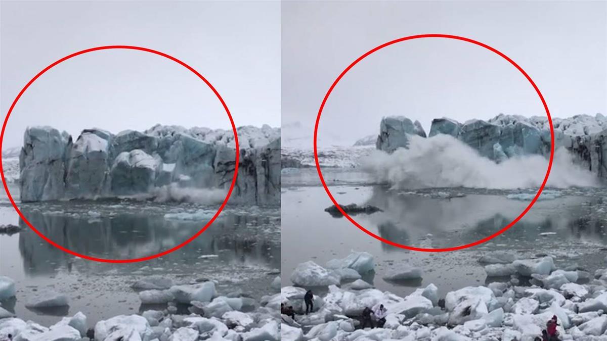 賞冰川突崩塌 遊客嚇見巨浪狂撲…死命逃