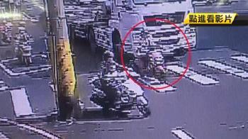 拖板車輾斃女騎士 違規真兇監視器抓到了