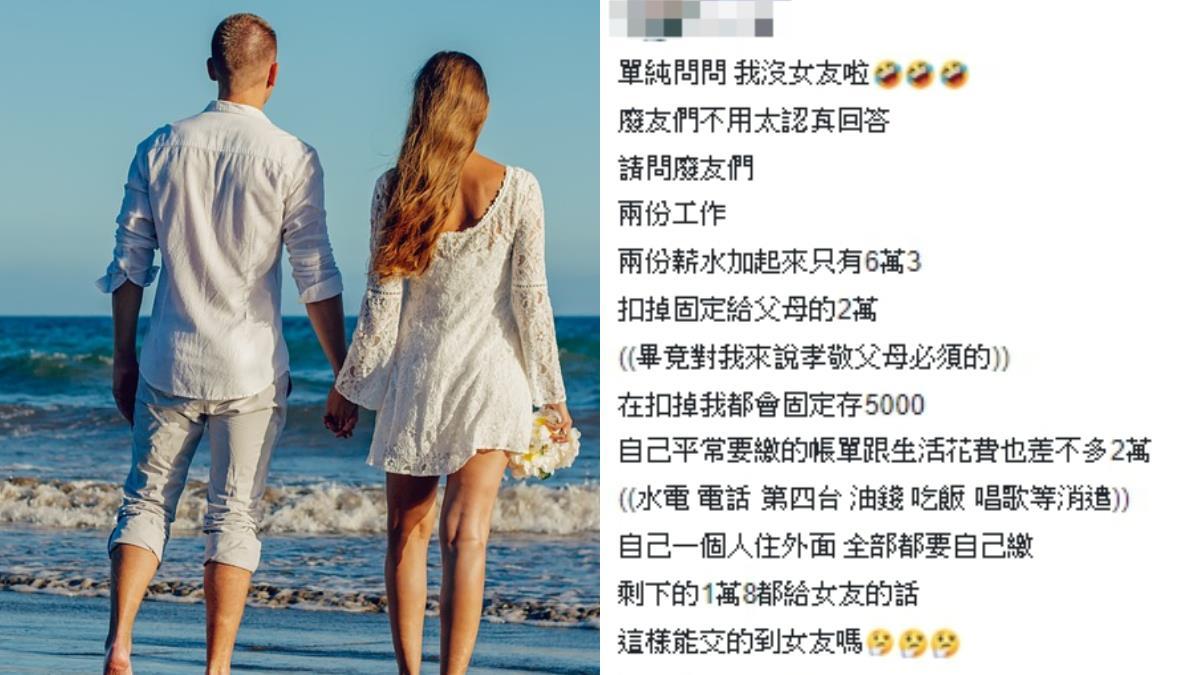 月賺63K!他給1.8萬生活費:交得到女友嗎
