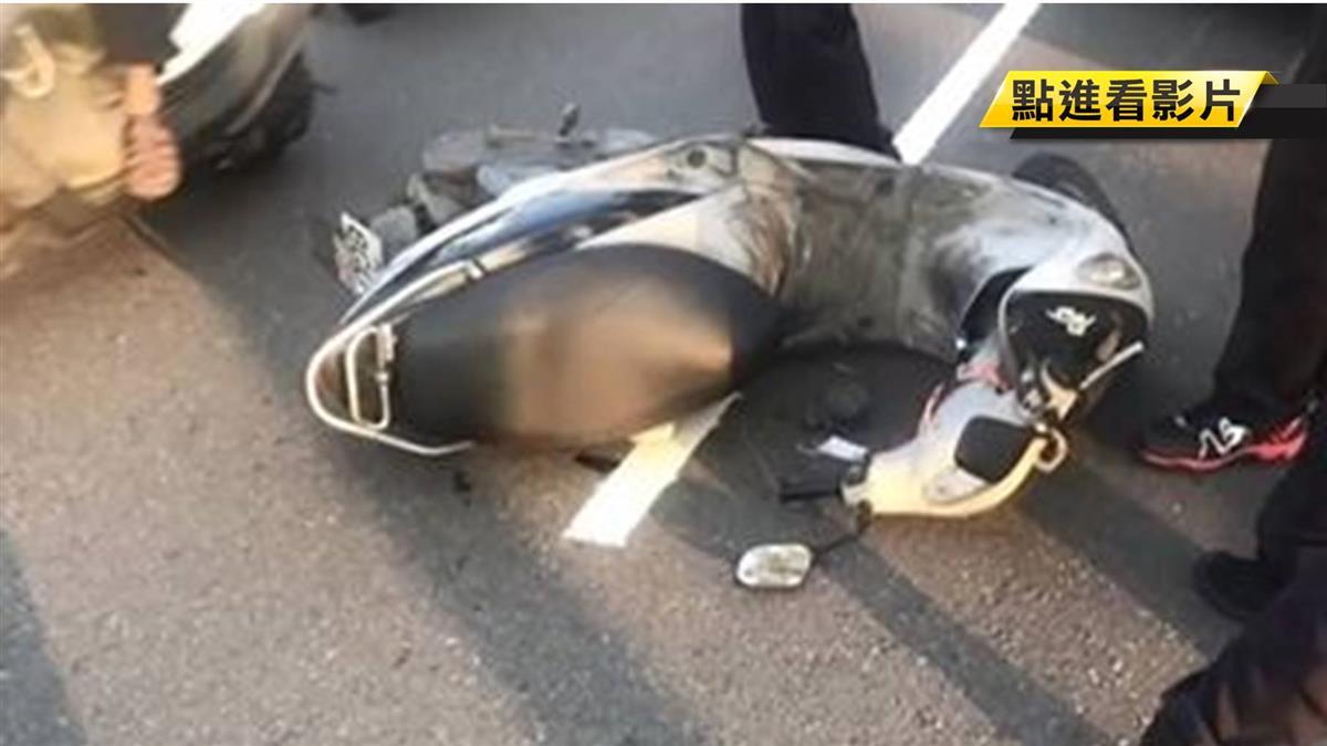 高雄客運與機車擦撞 騎士當場遭輾斃