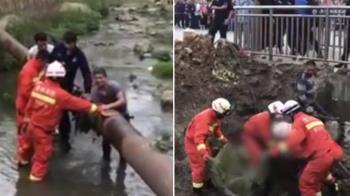 墜河遭吸入70cm寬水管 2歲男童卡5hr斃命