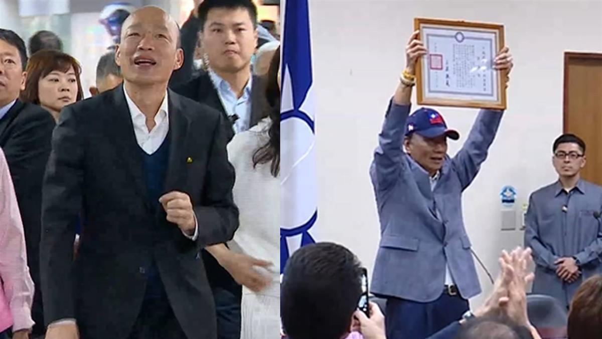郭、韓支持度差1% 韓流變台風暗藏隱憂