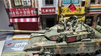 解放軍坦克現北市 逼真模型曝光!網怒了