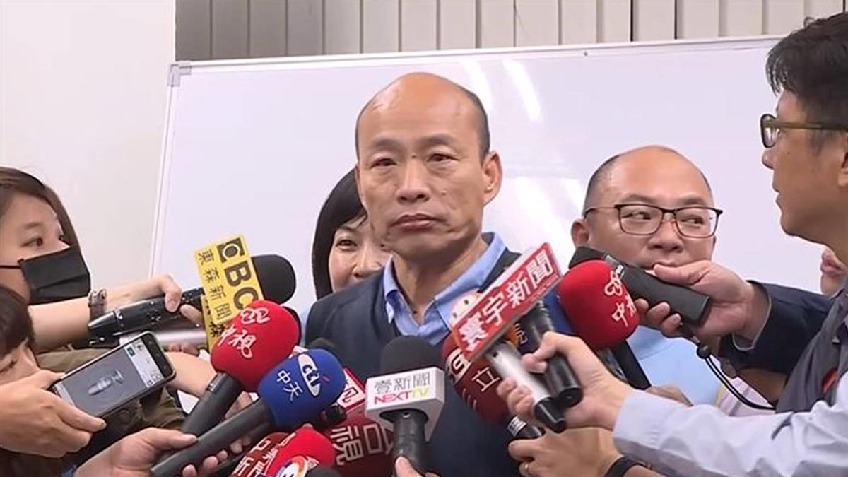 韓國瑜夜宿大林蒲 聲明稿問題不再回答