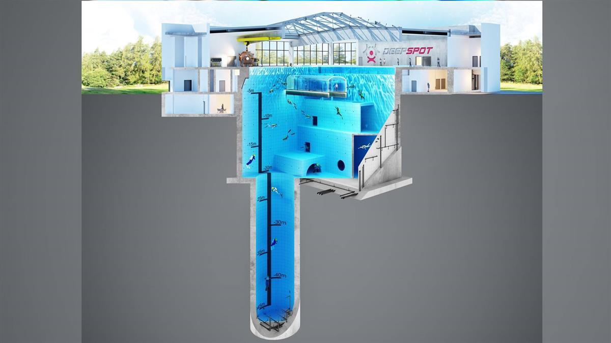 高達14層樓!世界最深泳池 挑戰你恐懼極限