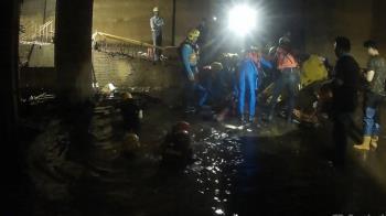 建築女工疑跌2.5公尺深水坑 送醫不治