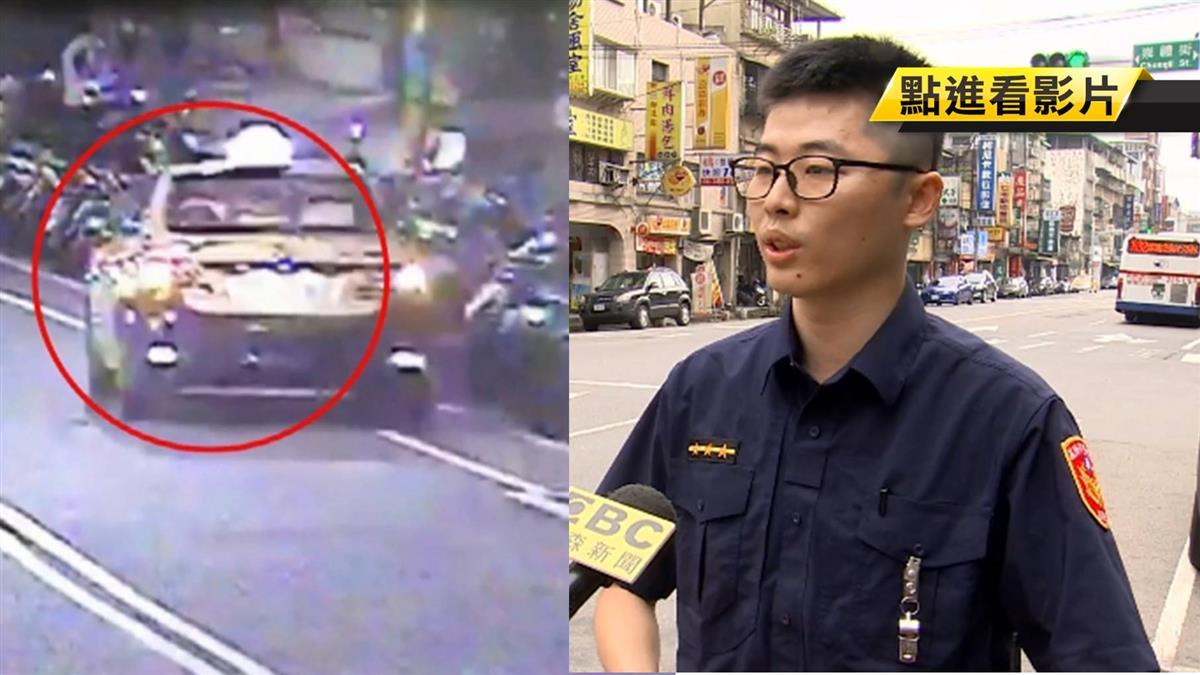 獨/酒駕小黃撞路邊機車 路過警追逮運將
