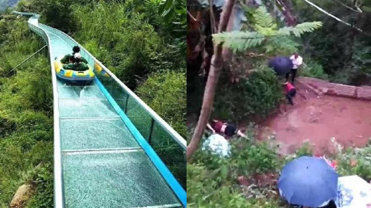 出事了!遊客衝出最長玻璃滑梯 2死12傷