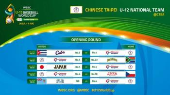 U12世界盃中華隊首戰古巴 力拚冠軍留台灣