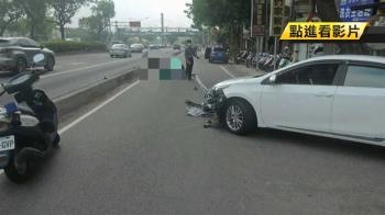 女騎士擦撞不治 2轎車停白線擋視線遭起訴