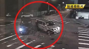 台中連環車禍!廂型車擦撞肇逃 5車損3人傷