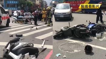 72歲運將連撞14車沒停!驚悚畫面曝光