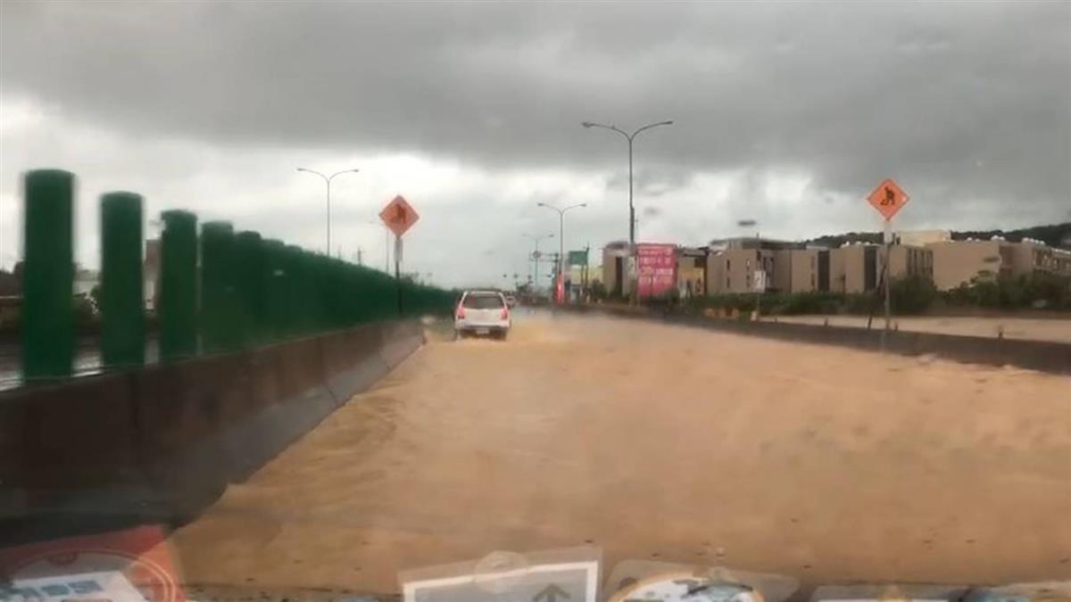 豪雨襲北台 新竹縣市進入一級淹水警戒