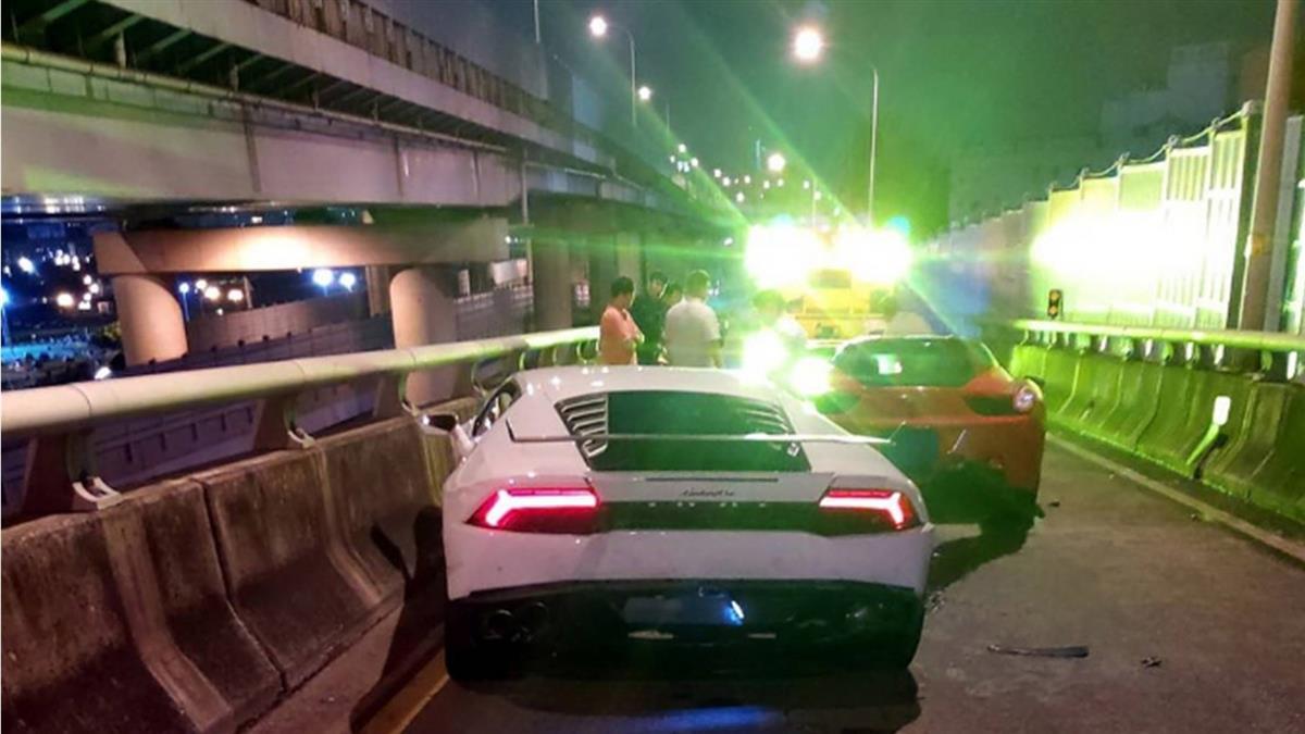 超貴車禍!三重BMW追撞藍寶堅尼、法拉利