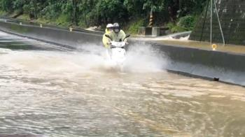 強降雨襲南投山區 多處落石淹水阻交通