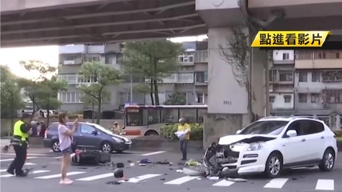 休旅車左轉撞直行機車!機車上班族拋飛慘死