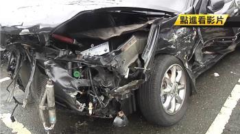 中山高3車連環撞 20歲女駕駛拋飛1死4傷