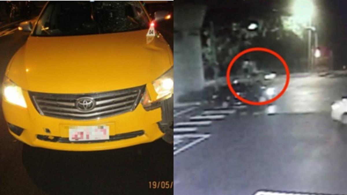 男走斑馬線闖紅燈 遭計程車撞飛慘亡