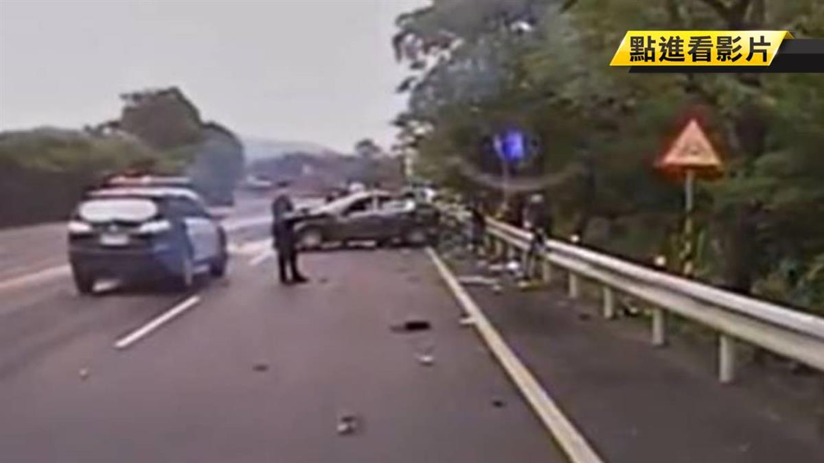 酒駕拒盤查!男開名車猛撞雙載機車釀1死4傷