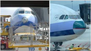 華航客機遇雷擊受損 借國泰機鼻秒變憤怒鳥