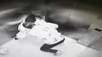 馬尾妹搭電梯 突遭平頭男壓地強吻!猥褻50秒