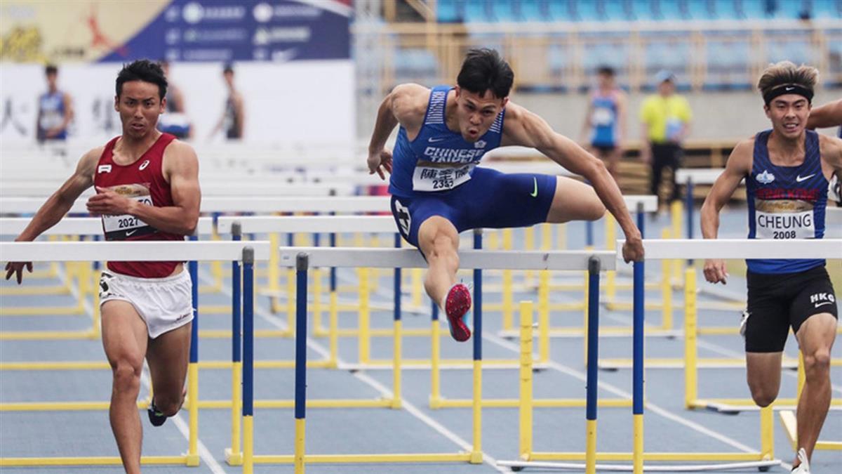 陳奎儒百十公尺跨欄破全國 差0.02秒達標奧運