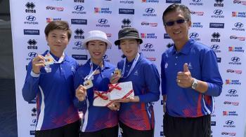 世界盃射箭賽 中華女團勇奪反曲弓金牌