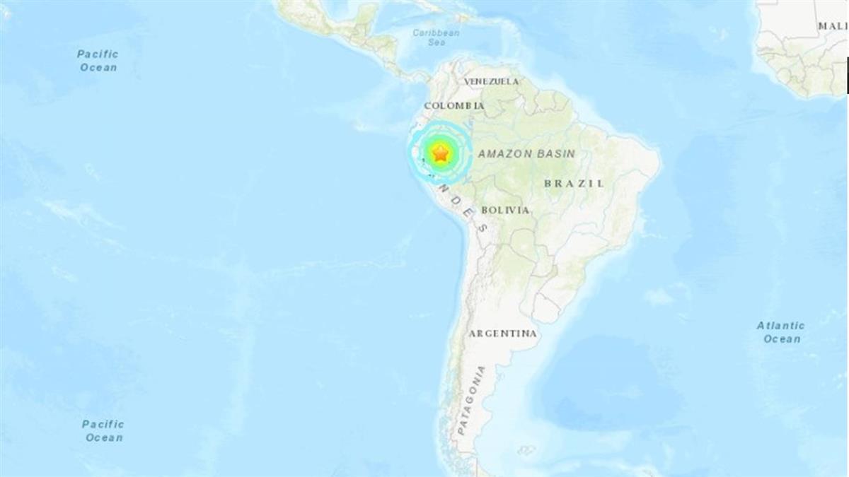 秘魯北部發生規模7.5地震 目前未傳出災損