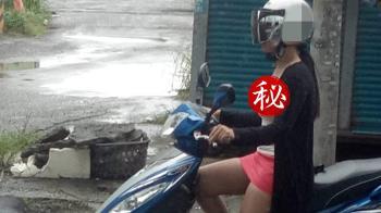 正妹濕身驚見「無罩駕駛」 網嚇:沒穿內衣?