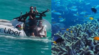 大堡礁也Uber! 直升機載你搭「迷你共乘潛艇」