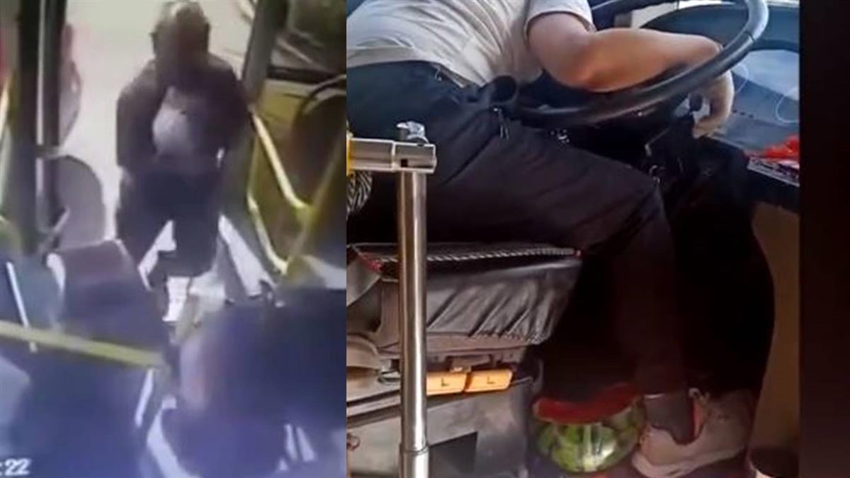氣公車沒停…他搭小黃猛追 怒拿西瓜砸昏司機