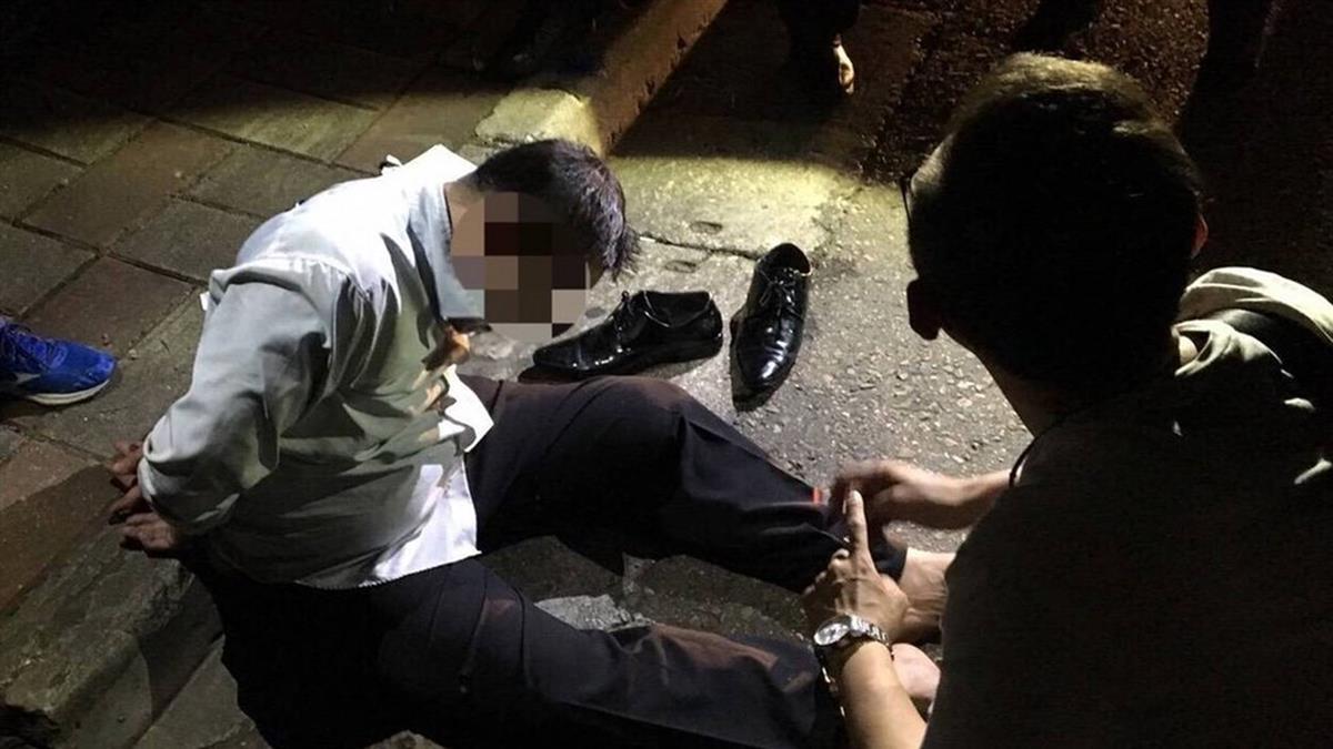 桃園男持刀搶車傷人  警圍捕2hr落網