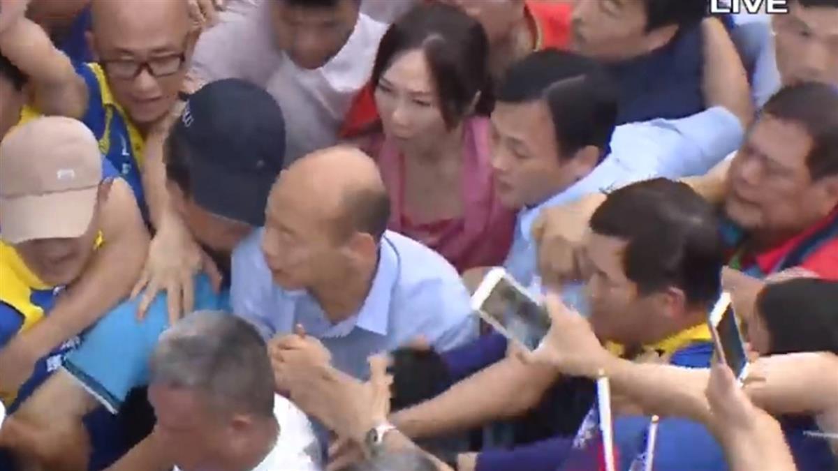 李佳芬也來了!韓國瑜抵達凱道 主辦方估30萬人到場