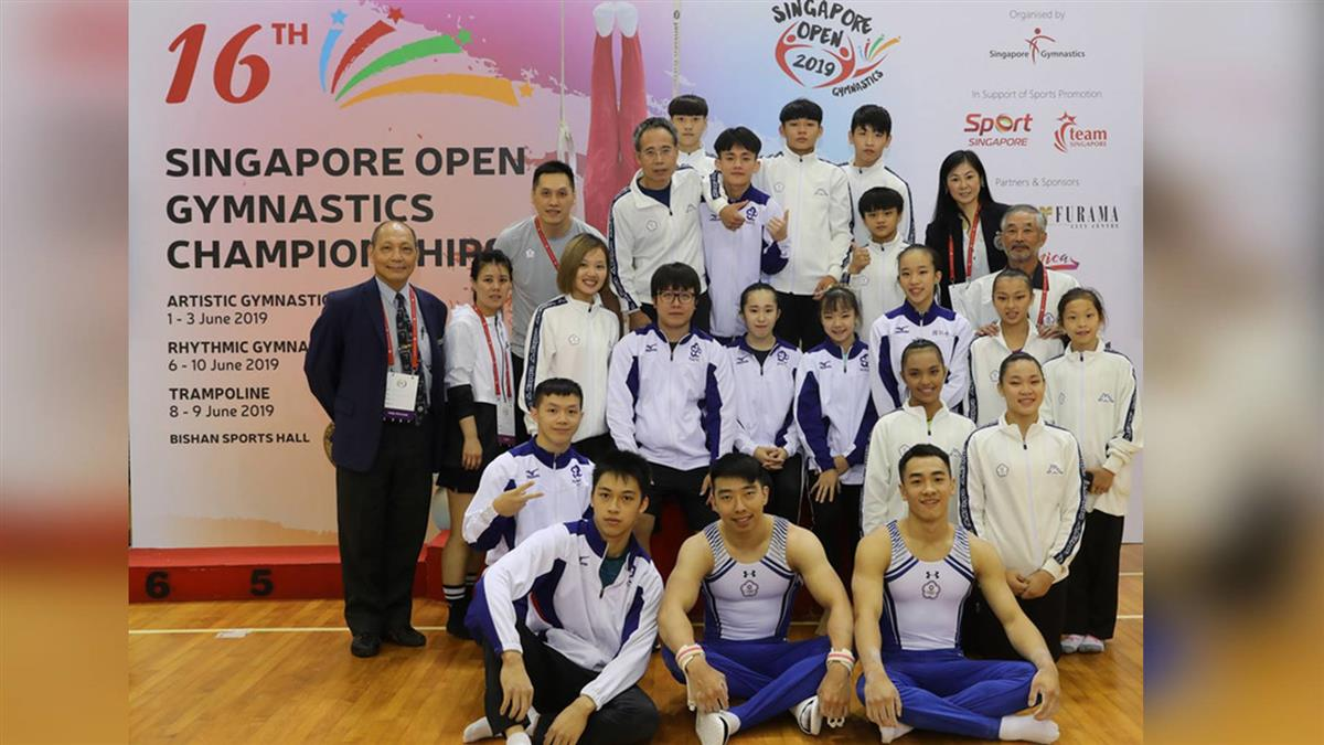新加坡競技體操賽  台選手獲8金9銀7銅