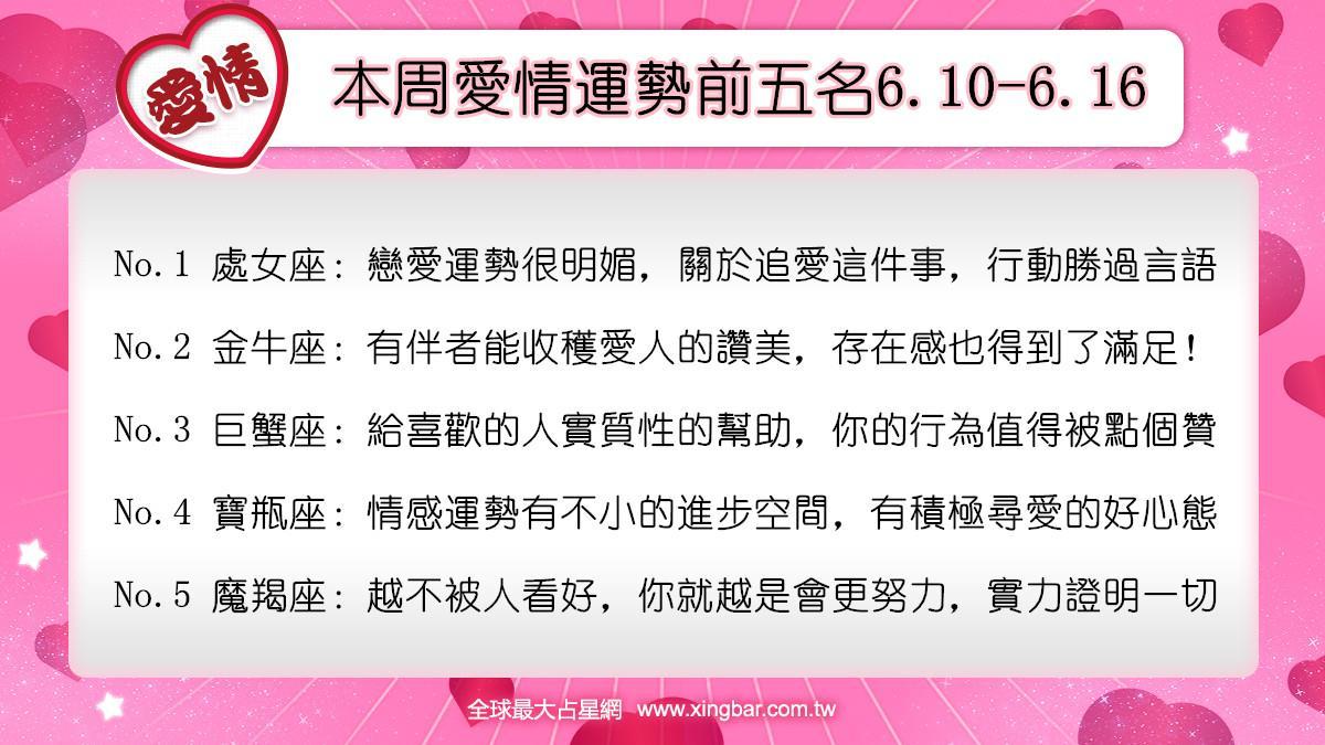 12星座本周愛情吉日吉時(6.10-6.16)