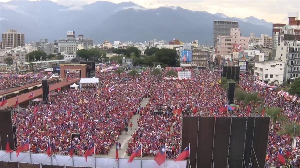 韓國瑜花蓮造勢 官宣破7萬人!國旗海紅通通